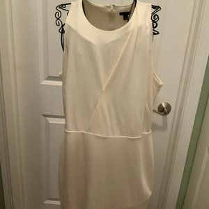 Ann Taylor Ivory Sleeveless Fully Lined Size 14